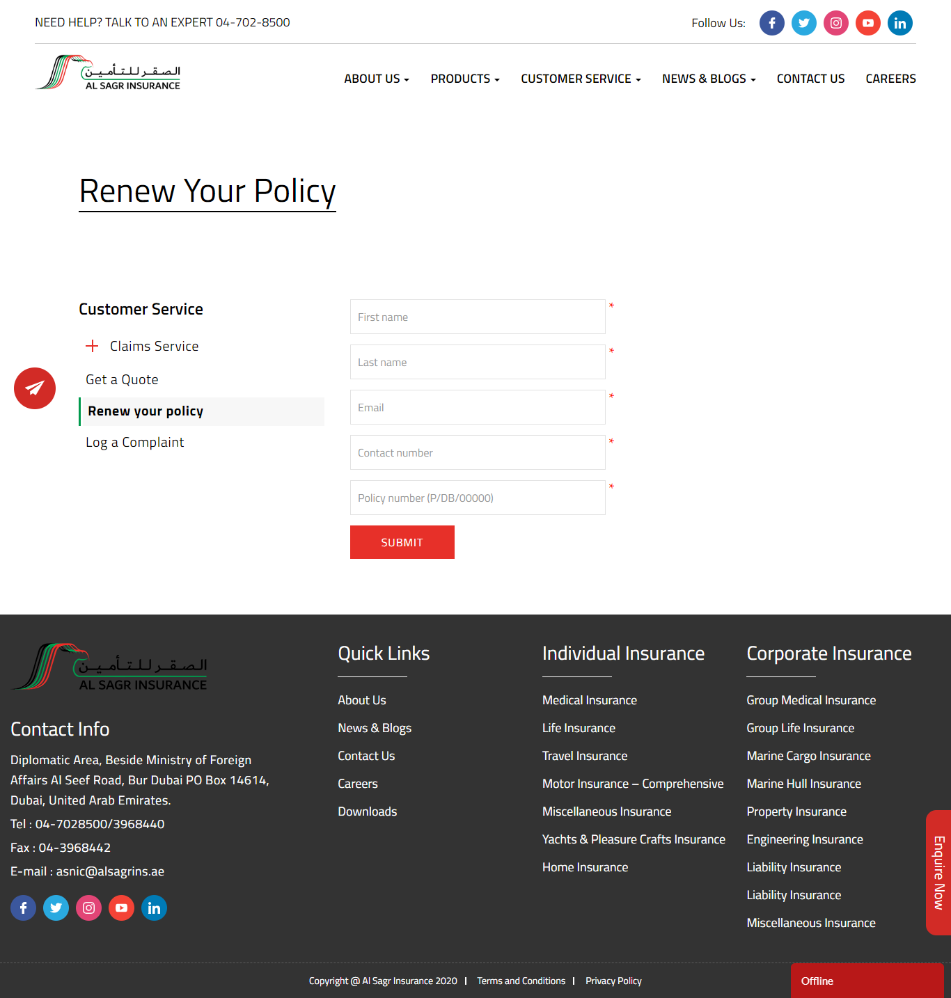 Renew your policy - Insurance Companies | General ...